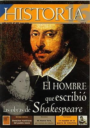 Revista HISTORIA 16. nº 333. EL HOMBRE: VV. AA.