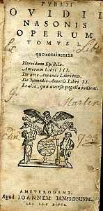 PUBLII OVIDI NASONIS OPERUM.: Publio Ovidio Nasón]