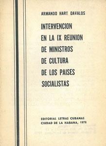 INTERVENCIÓN EN LA IX REUNIÓN DE MINISTROS: HART DAVALOS, Armando.
