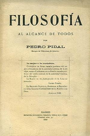 FILOSOFÍA AL ALCANCE DE TODOS.: PIDAL, Pedro.