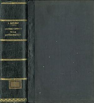 HISTOIRE GÉNÉRALE DE LA STÉNOGRAPHIE & DE: NAVARRE, Albert.