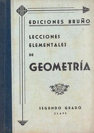LECCIONES ELEMENTALES DE GEOMETRÍA APLICADAS AL DIBUJO: EDICIONES BRUÑO.