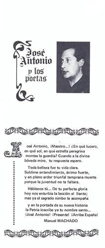 JOSÉ ANTONIO Y LOS POETAS.: VV. AA.