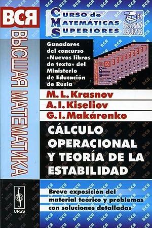 CÁLCULO OPERACIONAL Y TEORÍA DE LA ESTABILIDAD.: KRASNOV, M. L.