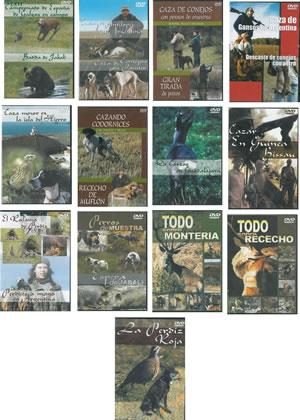 COLECCIÓN DE DVDs DE CAZA. [TODO SOBRE MONTERÍA - CAZA MENOR EN LA ISLA DEL HIERRO - CAZA DE ...
