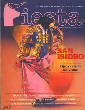 FIESTA. Revista mensual de información taurina. Año