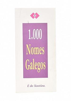 1.000 NOMES GALEGOS (1000 - MIL): COSTAS GONZÁLEZ, X. Henrique