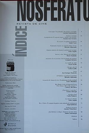 NOSFERATU. REVISTA DE CINE, N.º 32. CINE Y DERECHO: SANTAMARINA, Antonio / NAVARRO, Antonio ...