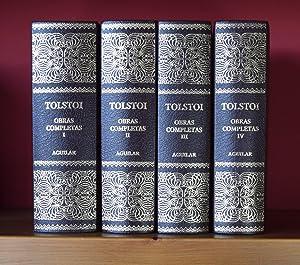 OBRAS COMPLETAS (EDICIÓN COMPLETA EN CUATRO TOMOS): TOLSTOI, León Nikolaievich
