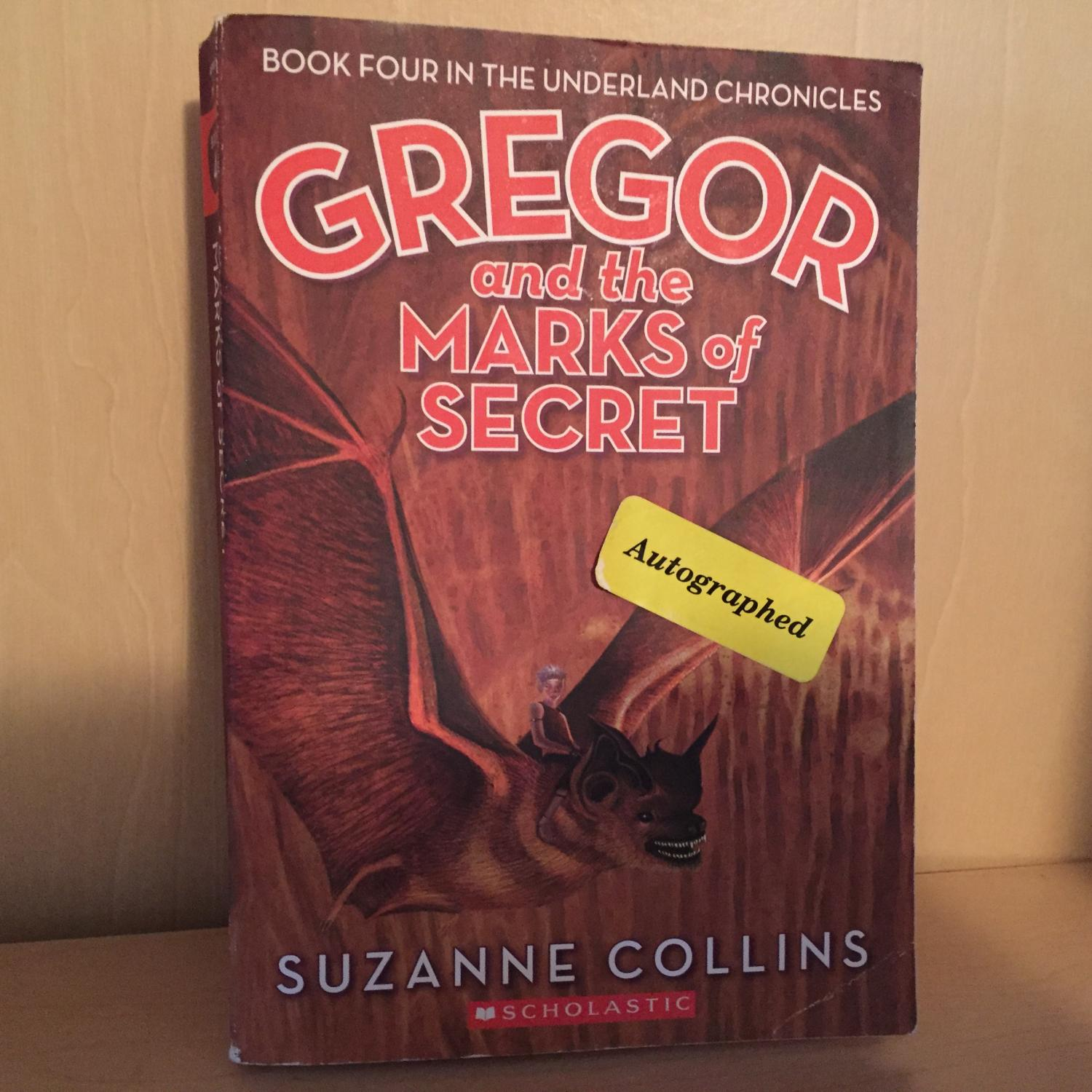 Gregor And The Marks Of Secret ( Signed Softcover ) By