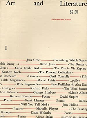 Art and Literature 1 (March 1964): Ashbery, John (editor), David Jones, David Shapiro, Diana ...