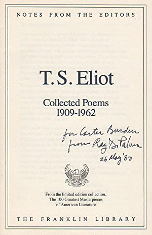 Notes from the Editors, from T. S. Eliot: Collected Poems 1909-1962