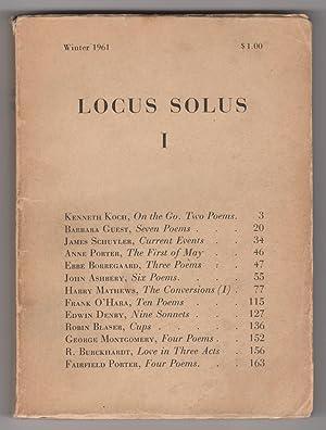 Locus Solus I (Locus Solus 1; Winter 1961): Ashbery, John, Kenneth Koch, Harry Mathews, and James ...