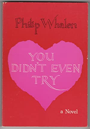 You Didn't Even Try : A Novel (INSCRIBED copy)