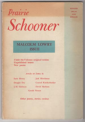 Prairie Schooner, Volume 37, Number 4 (Winter: Lowry, Malcolm, Earle