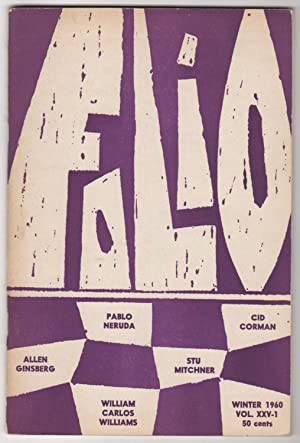 Folio, Volume XXV, Number 1 (25; Winter 1960)