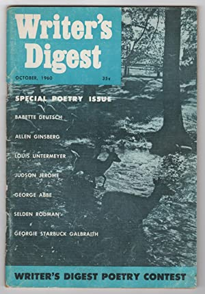 Writer's Digest, Volume 40, Number 10 (October 1960) - includes What Way I Write! by Allen Ginsberg