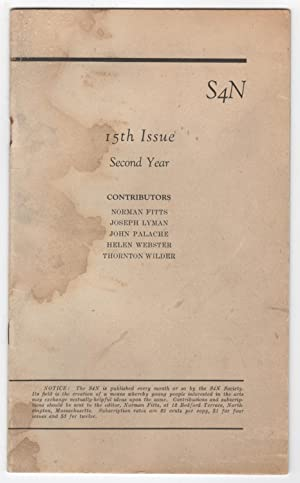 S4N 15 (15th Issue, Second Year, ca. 1921)