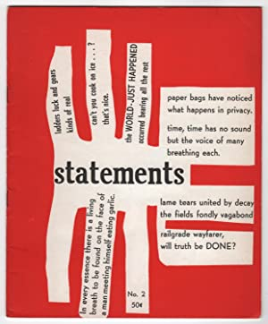 Statements 2 (Number 2, Winter 1959 -: Bell, Marvin H.
