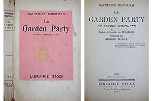 La Garden Party et autres histoires. Traduit: MANSFIELD, Katherine (Kathleen