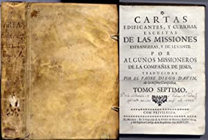 Cartas edificantes y curiosas escritas de las: VV.AA.