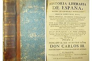 Historia Literaria de España. Tomo I [Plan,: RODRÍGUEZ MOHEDANO, Pedro