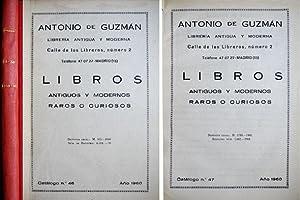 Catálogos de Libros Antiguos y Modernos, Raros: GUZMÁN, Antonio de.