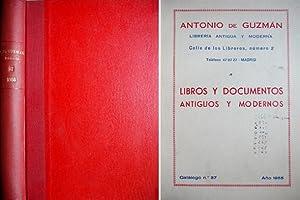 Catálogo Número 37 de Libros y Documentos: GUZMÁN, Antonio de.