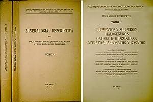 Mineralogía Descriptiva. [I: Elementos y sulfuros, halogenuros,: MARTINEZ STRONG, Pablo,