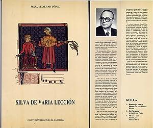 Silva de Varia Lección.: ALVAR, Manuel.