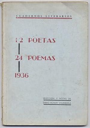 12 poetas, 24 poemas. [Porfirio Barba Jacob,: ACHURY VALENZUELA, Dario