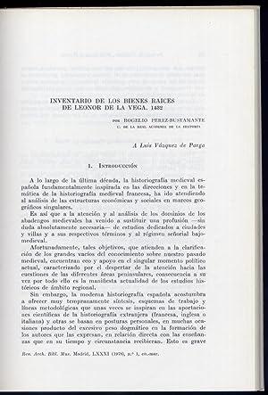 Inventario de los bienes raices de Leonor: PÉREZ BUSTAMANTE, Rogelio.