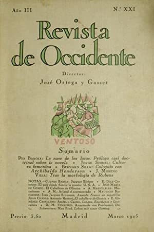 Revista de Occidente. Año III. Nº XXI.: VV.AA.
