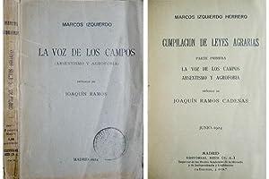 Compilación de Leyes Agrarias. Parte primera (y: IZQUIERDO HERRERO, Marcos.