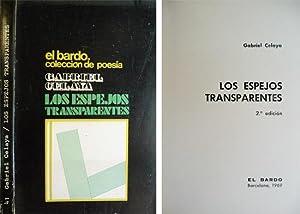 Los espejos transparentes. Poemas.: CELAYA, Gabriel.