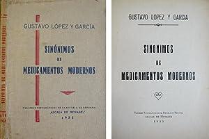 Sinónimos de Medicamentos Modernos.: LÓPEZ Y GARCÍA,
