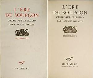 L'Ère du Soupçon. Essais sur le roman.: SARRAUTE, Nathalie [Natacha