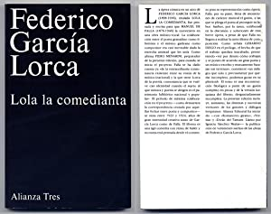 Lola la comedianta. Prólogo de Gerardo Diego.: GARCÍA LORCA, Federico.