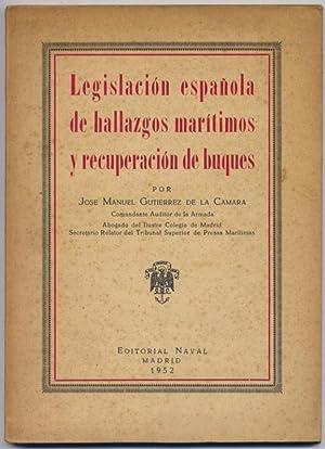 Legislación Española de Hallazgos Marítimos y Recuperación: GUTIÉRREZ DE LA