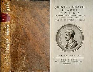 Quinti Horatii Flacci. Opera ad optimas editiones: HORACIO.