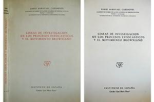 Líneas de Investigación en los Procesos Estocásticos: MARAVALL CASESNOVES, Dario