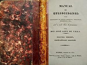 Manual de Curiosidades, ó sea, Recopilación de: GEFE DE VILLA,