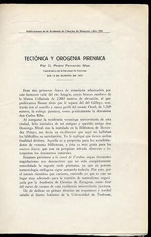 Tectónica y Orogenia Pirenáica.: FERRANDO MAS, Pedro.