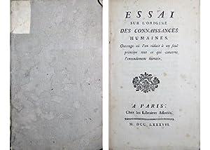 Oeuvres. Volume I (sur trois): Essai sur: CONDILLAC, Etienne Bonnot,