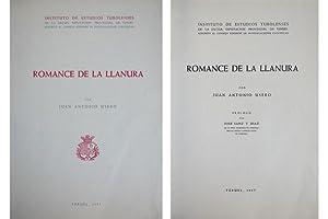 Romance de la Llanura. Prólogo de José: USERO MORENO, Juan
