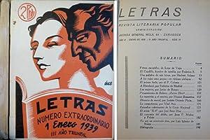 Letras. Revista literaria popular. Año III. Enero: VV.AA.