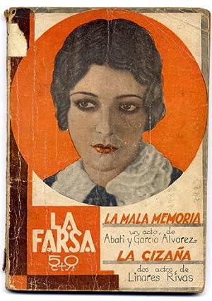 La mala memoria. Juguete cómico en un: GARCIA ALVAREZ, Enrique