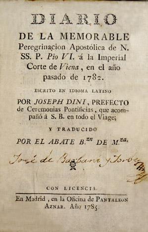 Diario de la memorable Peregrinación Apostólica de Nuestro Santísimo Papa Pio ...