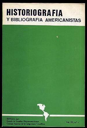 Historiografía y Bibliografía Americanistas. Vol. XV. Núms.: MORALES PADRON, Francisco
