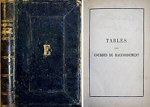 Tables des Courbes de Raccordement. Contenant les: COMBIER, Charles.